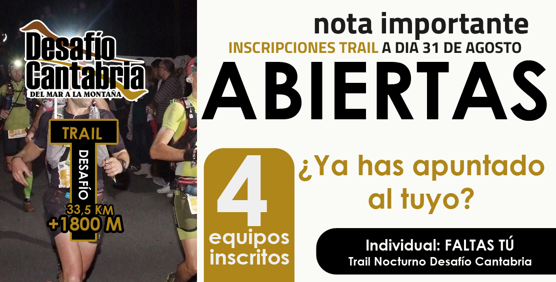 inscritos final Agosto Trail